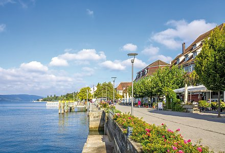 Promenade in Überlingen am Bodensee